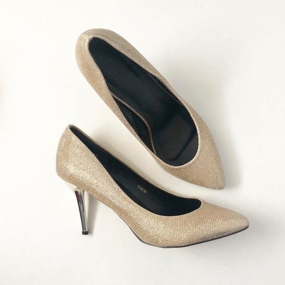 Shoes | Gold Metallic Pumps | Poshmark